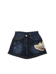 Monnalisa - Blue shorts with Jerry embroidery