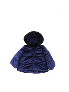 Monnalisa - Blue velvet down jacket