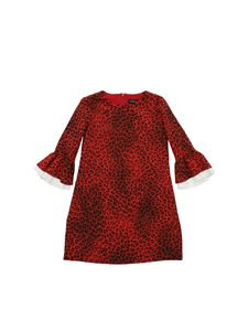 Monnalisa - Animal printed dress in red and black