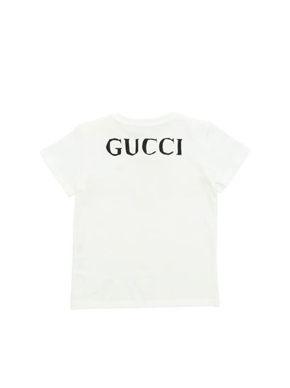 b89bc02f7 Gucci Fall Winter 19/20 white t-shirt with leopard print - 548034 ...
