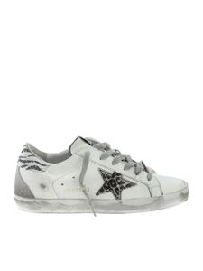 Golden Goose Deluxe Brand - Superstar sneakers in white and animal print