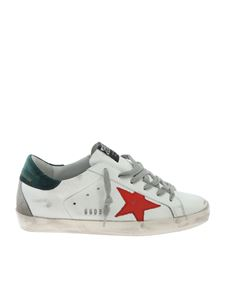 Golden Goose Deluxe Brand - Superstar sneakers in white and green