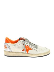 Golden Goose Deluxe Brand - Ball Star Sneakers in white and fluorescent orange