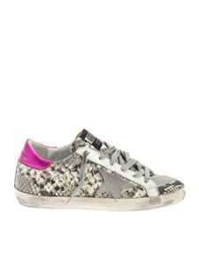 Golden Goose Deluxe Brand - Superstar sneakers in reptile effect leather