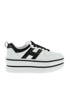 Hogan - H449 Maxi sneakers in black and white