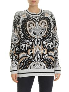 See by Chloé - Grey pullover with contrasting pattern
