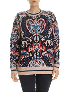 See by Chloé - Pink pullover with contrasting pattern