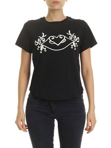 See by Chloé - Black T-shirt with front embroidery