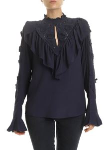 See by Chloé - Ink Navy blouse with embroidery