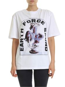 McQ Alexander Mcqueen - Earth Force Sound T-shirt in white