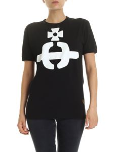 Vivienne Westwood Anglomania - Orb crew neck T-shirt in black