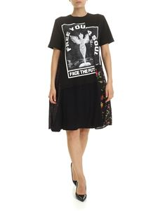 McQ Alexander Mcqueen - Free Your Soul dress in black