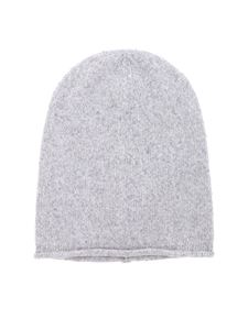 Kangra Cashmere - Light grey melange beanie