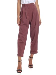 MM6 by Maison Martin Margiela - Purple trousers with darts