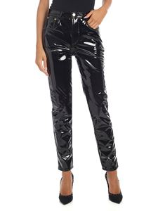 Chiara Ferragni - Patent leather trousers in black