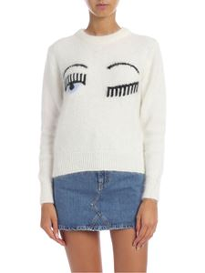 Chiara Ferragni - Pullover with Flirting logo in cream white