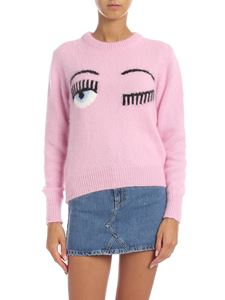 Chiara Ferragni - Pullover with Flirting logo in pink
