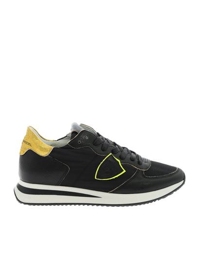 Philippe Model - Tropez sneakers with golden detail in black