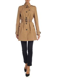 Tommy Hilfiger - Camel-colored cotton trench coat