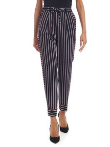 Tommy Hilfiger - Blue trousers with striped pattern