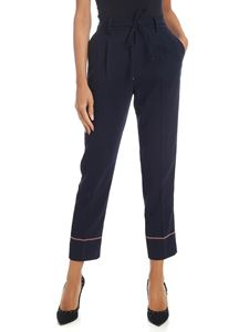 Tommy Hilfiger - Blue trousers with contrasting logo details