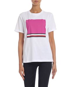 Tommy Hilfiger - White T-shirt with contrasting logo print