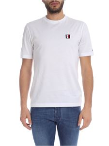 Tommy Hilfiger - T-shirt bianca con patch logo