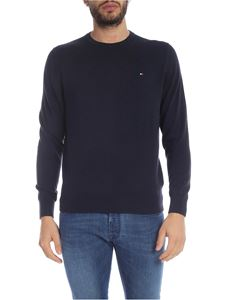Tommy Hilfiger - Blue pullover with logo embroidery