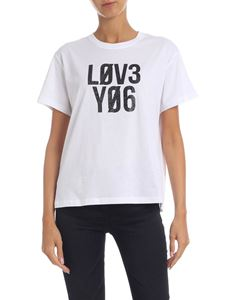 Red Valentino - Love You T-shirt in white