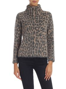 Kangra Cashmere - Turtle-neck pullover with animalier pattern