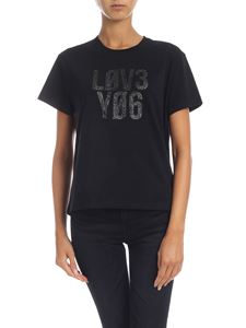 Red Valentino - Love You T-shirt in black
