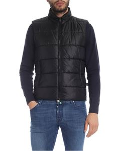 Fay - Sleeveless down jacket in black with logo