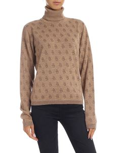 Ballantyne - Jacquard turtleneck in brown