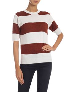 be Blumarine - Striped short sleeve pullover