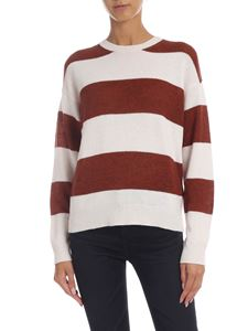 be Blumarine - White and brown striped pullover