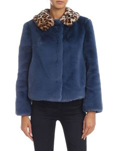 be Blumarine - Blue and animalier eco-fur