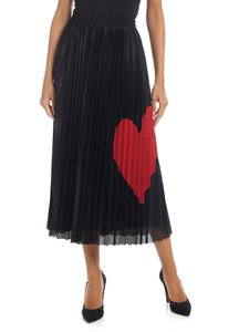 Red Valentino - Pleated mesh skirt in black