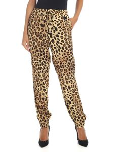 be Blumarine - Animal print wide leg trousers