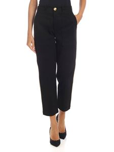 be Blumarine - Black trousers with trimming