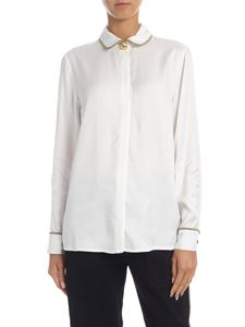 be Blumarine - White shirt with golden trimmings