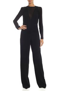 be Blumarine - Jumpsuit in black sablé fabric