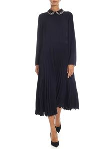 Red Valentino - Blue long dress with multicolor rhinestones