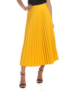 MM6 by Maison Martin Margiela - Pleated skirt in yellow