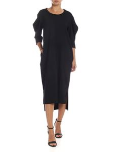 MM6 by Maison Martin Margiela - Black jersey dress with puffed sleeves