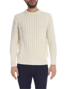 Woolrich - Ivory wool pullover