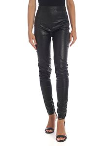 Philosophy di Lorenzo Serafini - Black eco-leather trousers
