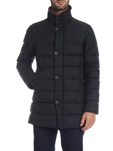 Herno - Black down jacket with fur collar