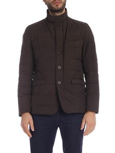 Herno - Quilted down jacket in brown