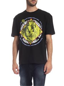 McQ Alexander Mcqueen - T-shirt stampa Electronic Vibrations nera
