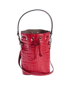 Fendi - Mon Tresor minibag with raised FF pattern in red